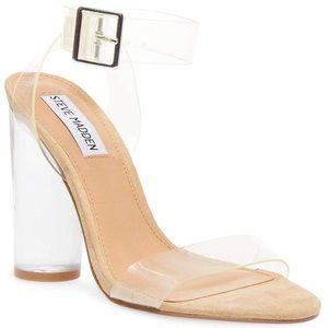 Nude/clear Steve Madden heels